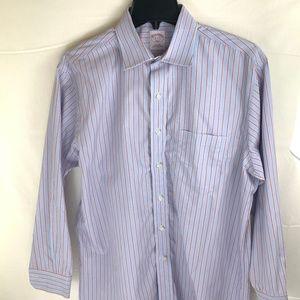 Brooks Brothers Blue Striped Shirt 16 2/3 346